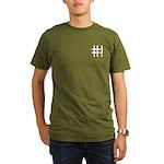 Organic Men's T-Shirt (dark) with small #! logo