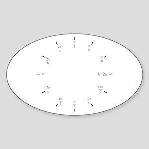 Trigonometry (Radians) Oval Sticker