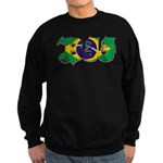Brazilian flag colours BJJ Sweatshirt (dark)