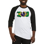 Brazilian flag colours BJJ Baseball Jersey