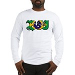 Brazilian flag colours BJJ Long Sleeve T-Shirt
