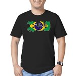 Brazilian flag colours BJJ Men's Fitted T-Shirt (d