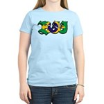 Brazilian flag colours BJJ Women's Light T-Shirt
