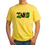 Brazilian flag colours BJJ Yellow T-Shirt