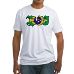 Brazilian flag colours BJJ Fitted T-Shirt
