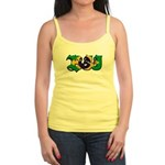 Brazilian flag colours BJJ Jr. Spaghetti Tank