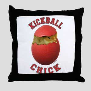 Kickball Chick Throw Pillow