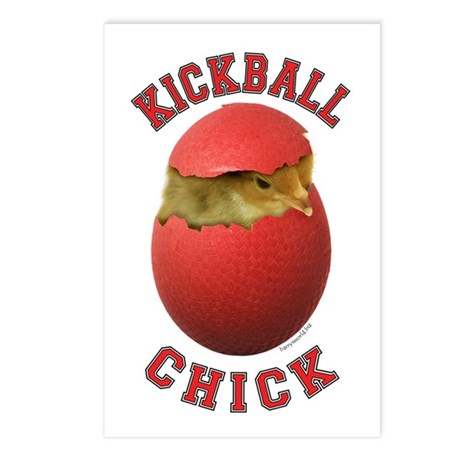 Kickball Chick Postcards (Package of 8)