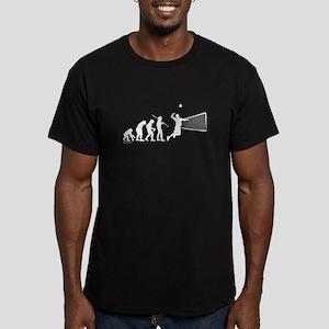 Volleyball Evolution Men's Fitted T-Shirt (dark)