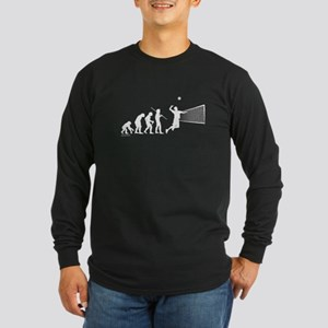 Volleyball Evolution Long Sleeve Dark T-Shirt