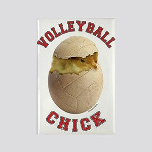 Volleyball Chick 2 Rectangle Magnet (10 pack)