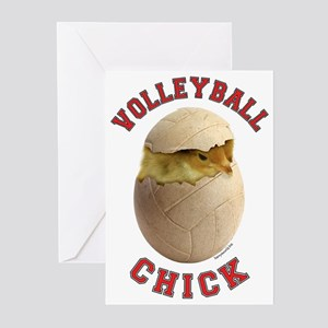 Volleyball Chick 2 Greeting Cards (Pk of 20)