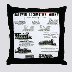The Baldwin Locomotive Works Throw Pillow