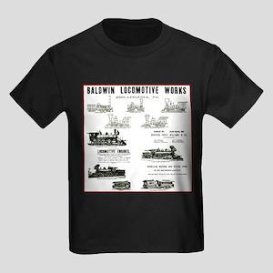 The Baldwin Locomotive Works Kids Dark T-Shirt