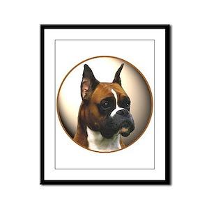 The Boxer Dog Framed Panel Print