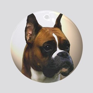The Boxer Dog Ornament (Round)