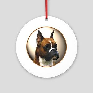 The Boxer Dog Ornament (Round)