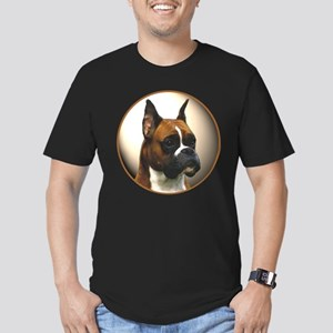 The Boxer Dog Men's Fitted T-Shirt (dark)