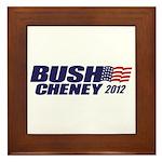 Bush Cheney Framed Tile