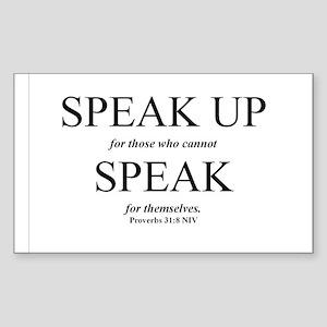 Speak Up Rectangle Sticker