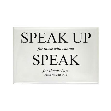 Speak Up Rectangle Magnet (10 pack)