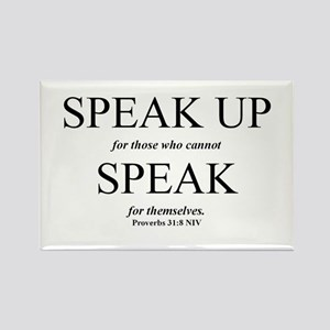 Speak Up Rectangle Magnet