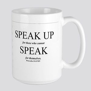 Speak Up Large Mug