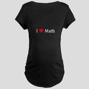 I Heart Math Maternity Dark T-Shirt