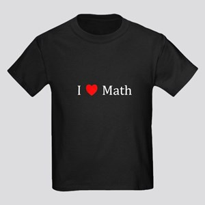 I Heart Math Kids Dark T-Shirt