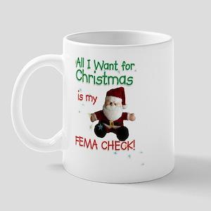 FEMA Check Santa Mug