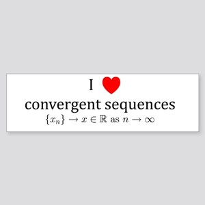 I Heart Convergent Sequences Bumper Sticker