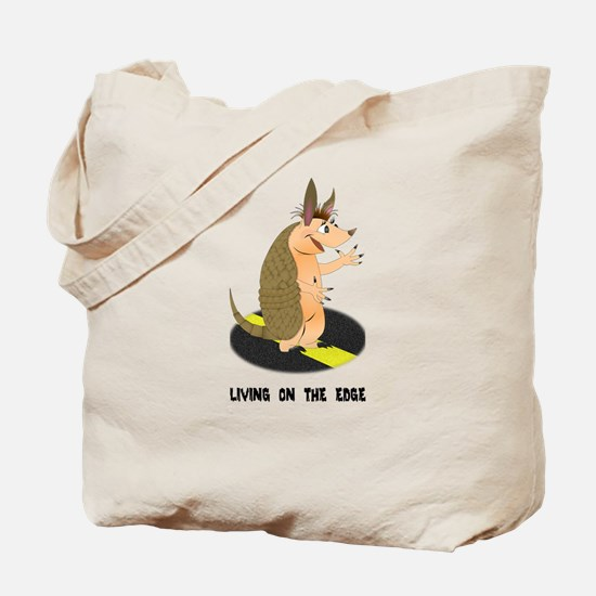 Armadillo on the Edge Tote Bag