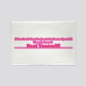 Go Away & Beat Yourself! Rectangle Magnet