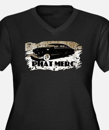 PHAT MERC-DISTRESSED- Women's Plus Size V-Neck Dar