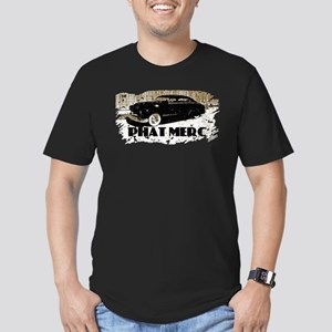 PHAT MERC-DISTRESSED- Men's Fitted T-Shirt (dark)