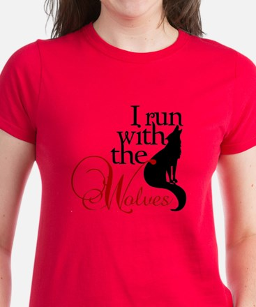 I run with the wolves Twilight Womens Dark T-Shirt