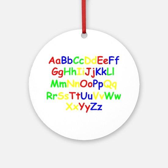 Alphabet in color Ornament (Round)