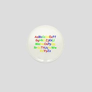 Alphabet in color Mini Button