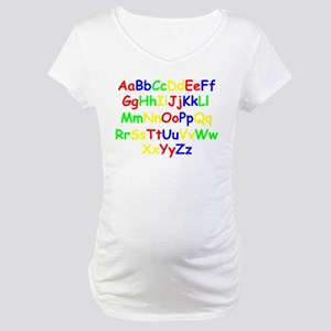 Alphabet in color Maternity T-Shirt