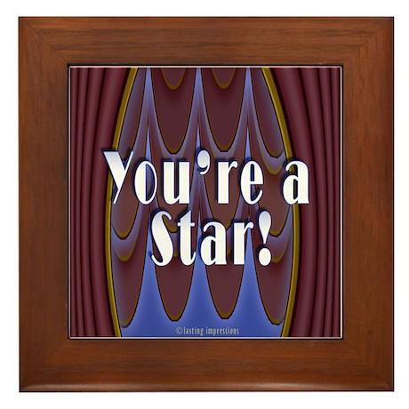 You're a Star! Framed Tile