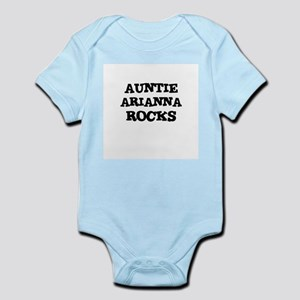 AUNTIE ARIANNA ROCKS Infant Creeper