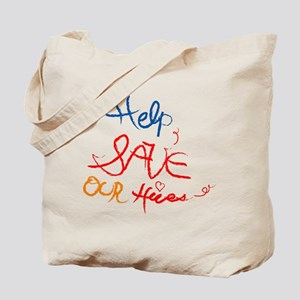 Help save our hives Tote Bag