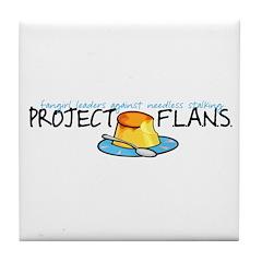 Project F.L.A.N.S. Full Logo Tile Coaster