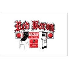 Red Baron Arcade Aurora CO Large Poster