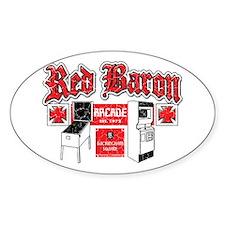Red Baron Arcade Aurora CO Oval Sticker