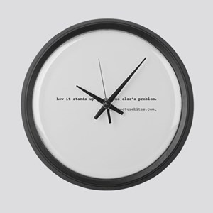 how it stands up is someone e Large Wall Clock