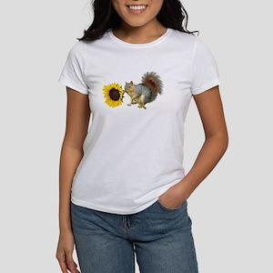 Squirrel Sunflower Women's T-Shirt