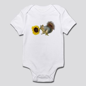 Squirrel Sunflower Infant Bodysuit
