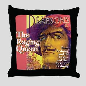 Raging Queen Throw Pillow