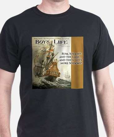 Boy's Life Black T-Shirt